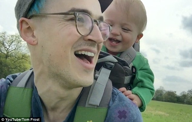 Lovable: The McFly frontman enthused, 'This is why being a Dad is awesome', in the accompanying caption