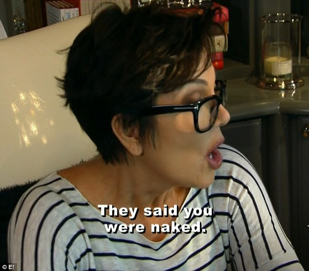 'They said you were naked': Kris Jenner was horrified to find out she was being blackmailed over naked surveillance photos on the latest episode of Keeping Up With The Kardashians aired on Sunday night