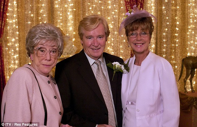 Corrie legend: Anne, with Maggie Jones (Blanche Hunt) and William Roache (Ken Barlow) died aged 60 in January following a battle with breast cancer