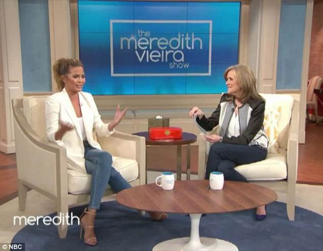 Nobody's perfect: Chrissy appeared on Friday's episode of Meredith Vieira to discuss the stretchmark photo, saying, 'I think we forget what normal people look like now'