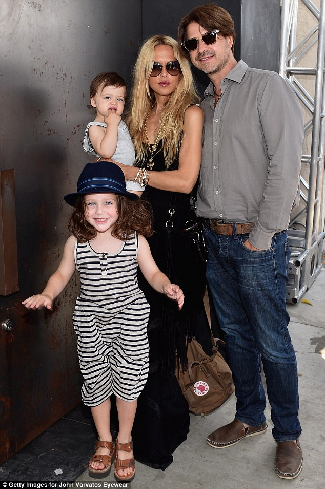 Fashion's in their blood! Stylist Rachel Zoe brought her trendy family - Skyler, aged four, and Kai, 16 months, and husband Rodger Berman - to the John Varvatos 12th Annual Stuart House Benefit  on Sunday