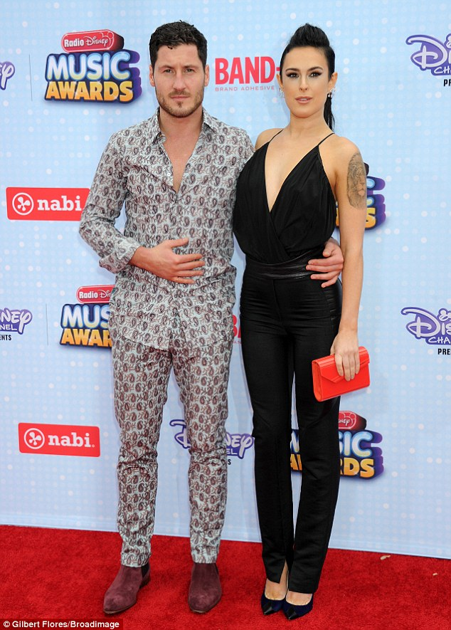 PJs: Olivia's main rival was Valentin Chmerkovskiy, who turned up in his pyjamas alongside Dancing With The Stars partner Rumer Willis