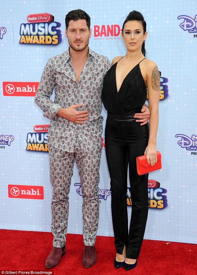 PJs: Olivia's main rival was ValentinChmerkovskiy, who turned up in his pyjamas alongside Dancing With The Stars partner Rumer Willis