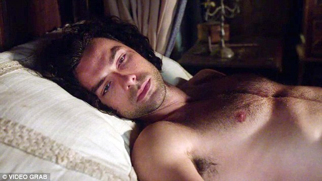 Popular: Aidan Turner and his famous abs have been the highlight of the show for many women
