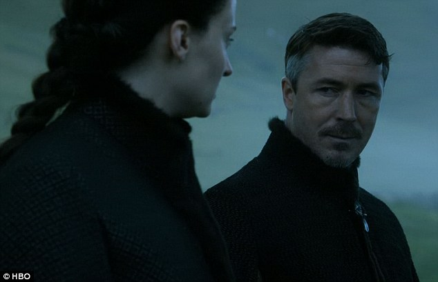 Making arrangements: Petyr broke the news to Sansa Stark that he arranged for her to be married