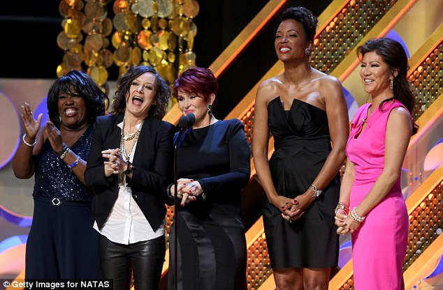 Good times: Sheryl Underwood, Sara Gilbert, Sharon Osbourne, Aisha Tyler and Julie Chen of The Talk took to the stage