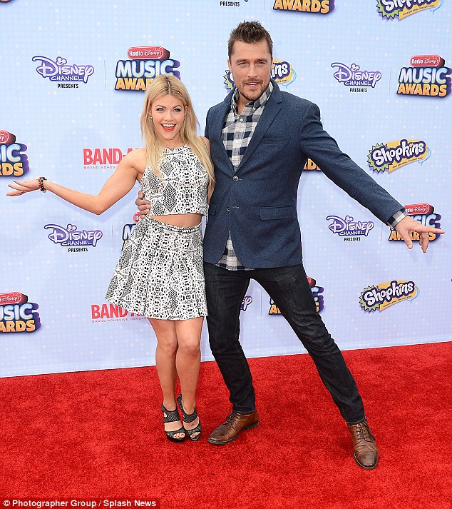 Rivals: Rumer and Val's DWTS rivals Witney Carson and her Bachelor star partner Chris Soules made an appearance