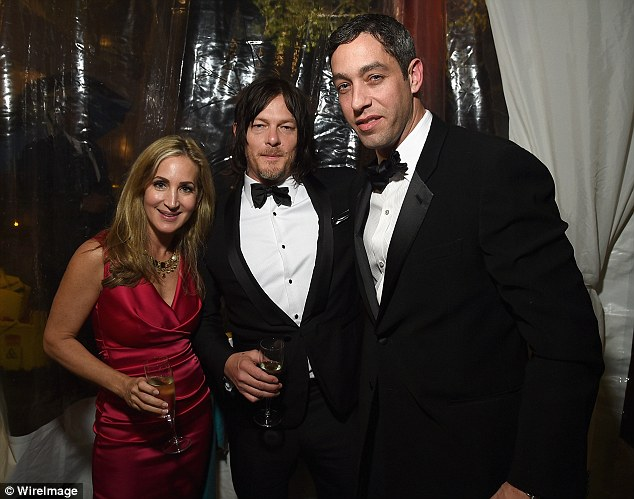 Business gurus: IvyWise CEO Katherine Cohen and businessman Nick Loeb mingled with actor Norman