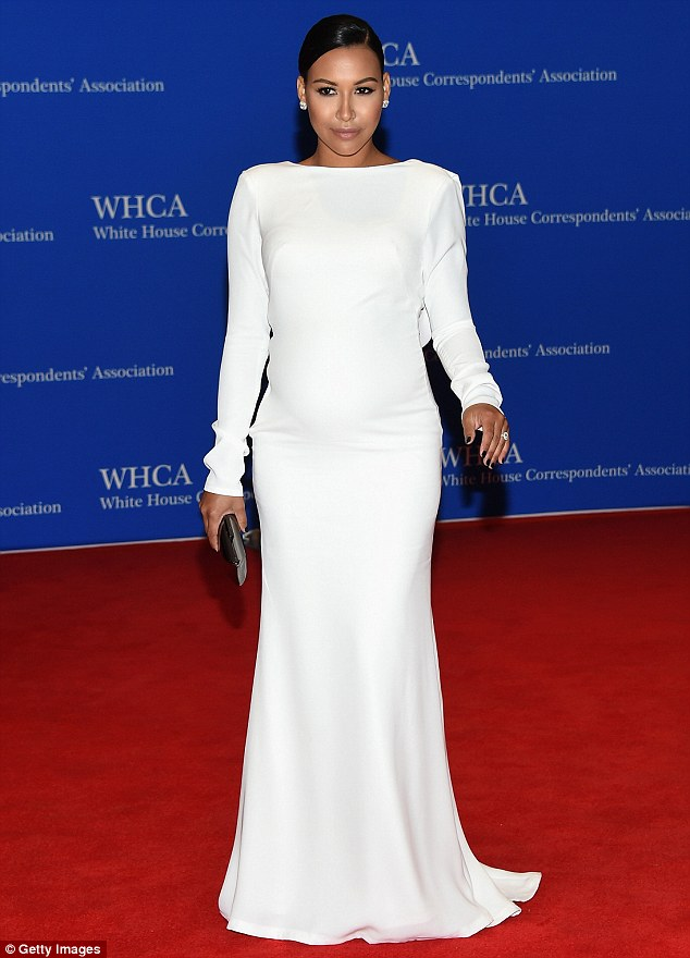 White hot! Naya Rivera looked the epitome of maternity chic at the White House Correspondents' Dinner on Saturday