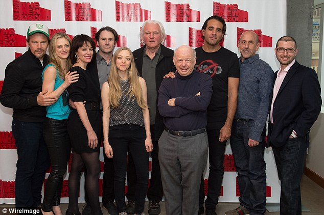 All together now: (L to R) Ethan Hawke, Marin Ireland, Parker Posey, Josh Hamilton, Amanda, writer David Rabe, Wallace Shawn, Bobby Cannavale, director Scott Elliot, and Adam Bernstein assembled for the reading