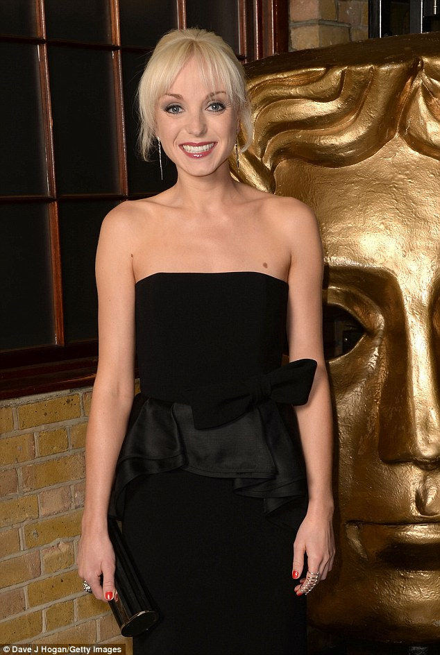 Taking the stage: Call The Midwife'sHelen George was due to present a BAFTA on the night