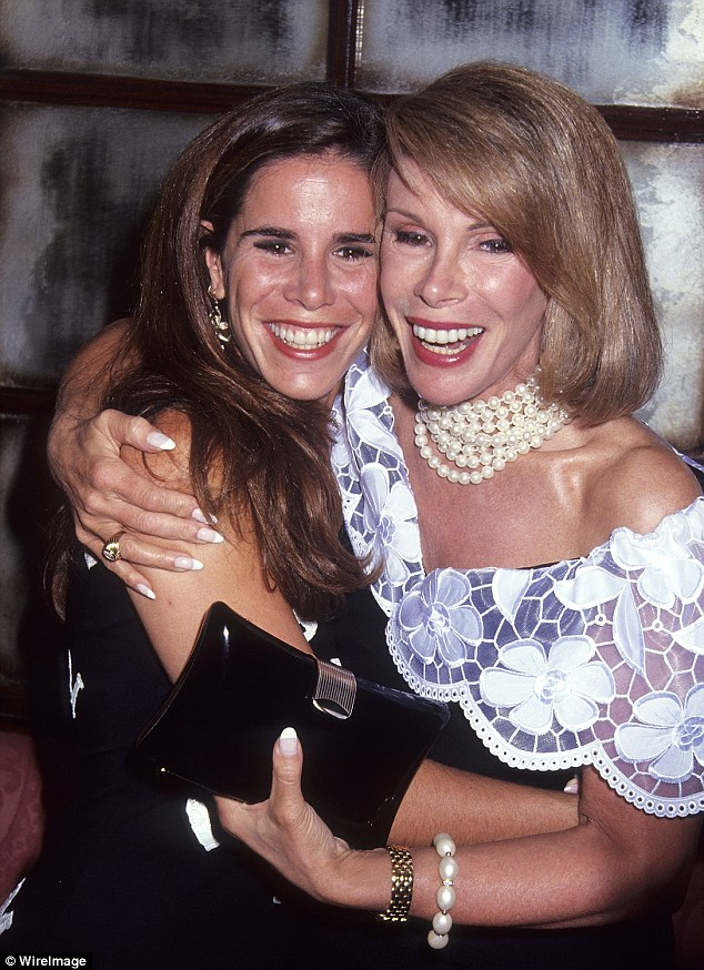 Unconditional love: The Fashion Police executive producer and her mother pictured in July 1992