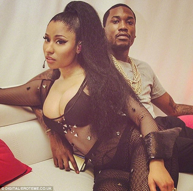 Getting serious: Nicki last month shared an Instagram snap of herself with Meek Mill