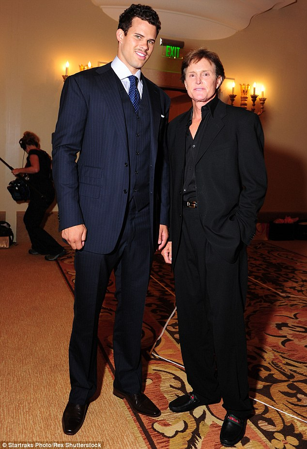 'Fully support Bruce': Kris Humphries has apologised for a cruel tweet about his ex-wife Kim Kardashian's stepfather Bruce Jenner, after the Olympian revealed he is a woman. Kris and Bruce are seen here at the rehearsal dinner for Kris and Kim's wedding in  2011