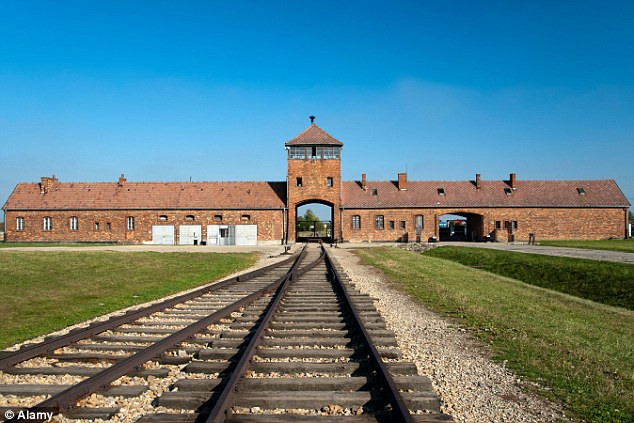 The three babies survived the horrors of the death camps, pictured is Auschwitz, the brutality of slave labour and a final terrifying journey before being liberated