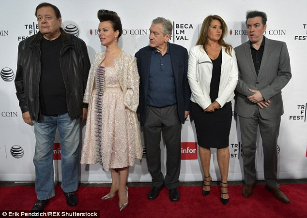 In attendance at Saturday's screening of Goodfellas were actors Paul Sorvino, Debi Mazar, Robert De Niro, Lorraine Bracco and Kevin Corrigan (from left to right)
