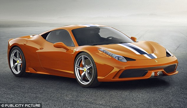 May revealed that he had prematurely celebrated the three-year deal while the contract was still being finalised by ordering a £200,000 Ferrari 458 Speciale in bright orange (pictured)