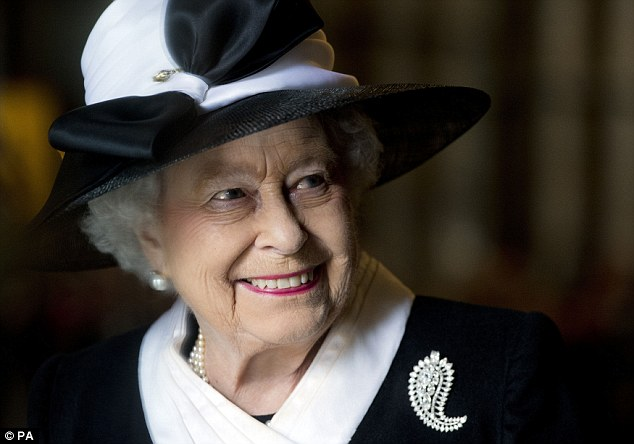 Queen Elizabeth II, pictured at Westminster Abbey yesterday. She placed 302nd on the Sunday Times Rich List with a wealth of £340m, compared with 285th last year and putting her outside of the top 300 for the first time