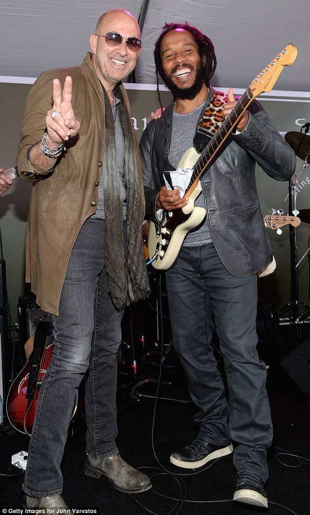 Rocking the House: Guests enjoyed entertainment by Ziggy Marley, who also appears in the John Varvatos spring 2015 campaign