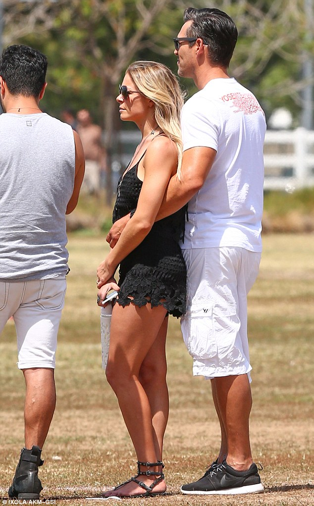 PDA pair! LeAnn Rimes and Eddie Cibrian played nice with Brandi Glanville as they all watched son Jake, eight, play in a soccer game in Canoga Park, California