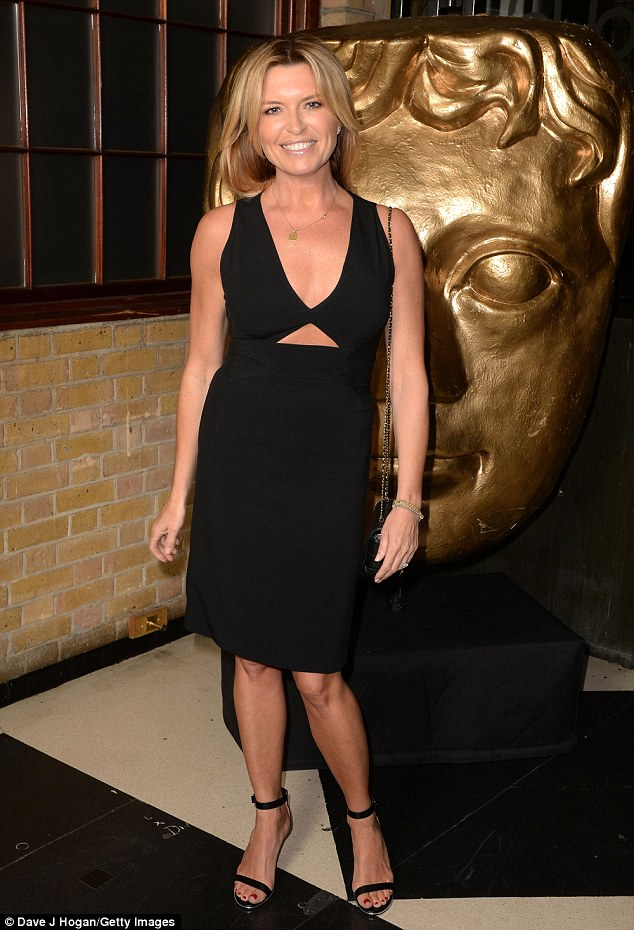 Looking good:Tina Hobley wowed fans as she stepped out for the BAFTA Craft Awards in London on Sunday