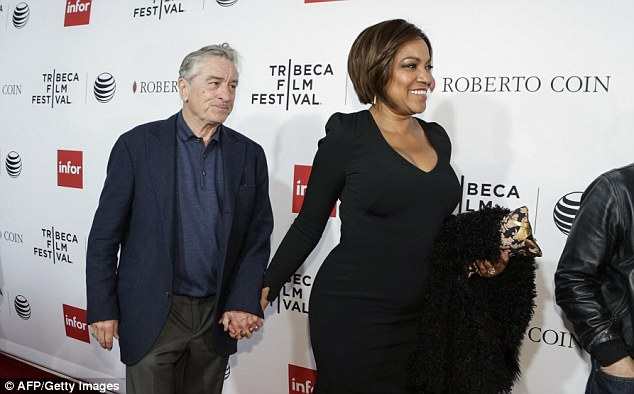 Robert De Niro, who founded the Tribeca Film Festival, arrived at Saturday's screening with his wife Grace Hightower