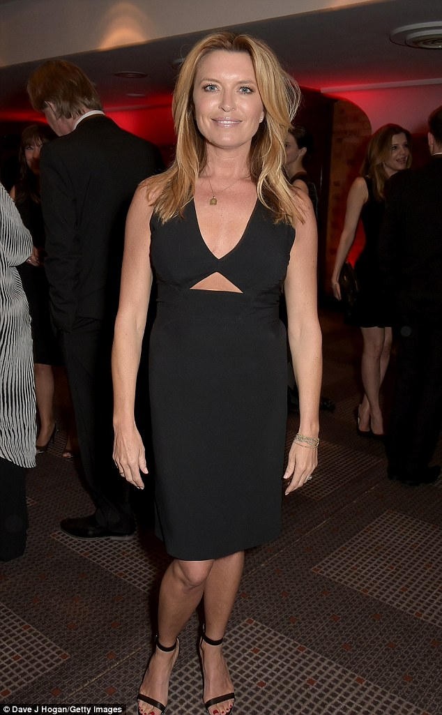 Age-appropriate: The sleeveless number, which she teamed with a pair of strappy sandals, was pitch perfect for the occasion by mixing glamour with sophistication