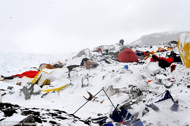 Fourteen members of Madison Mountaineering, a Seattle-based firm, were rescued from Mount Everest after a huge earthquake hit triggering avalanches, leaving them stranded because of the damage