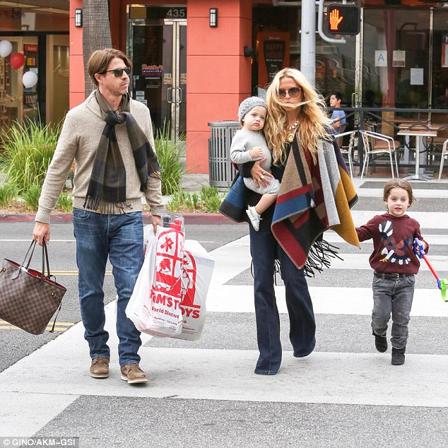 Shopping: Rachel Zoe and her husband Rodger Berman took their adorable sons to Tom's Toys in Beverly Hills on Saturday