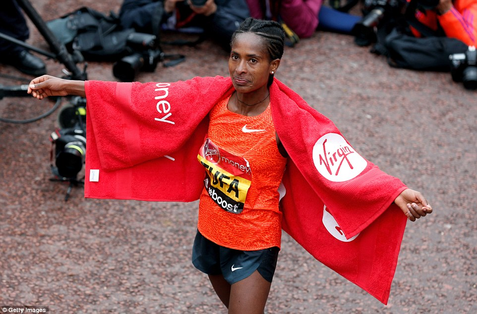Tufa recorded a time of two hours, 23 minutes and 22 seconds, becoming the first Ethiopian woman in 14 years to win the marathon