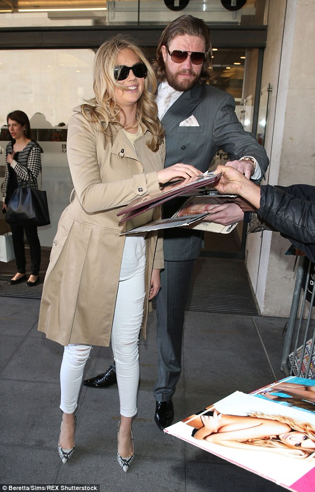 Role model: The star made sure she greeted everyone waiting before heading off to her next appointment
