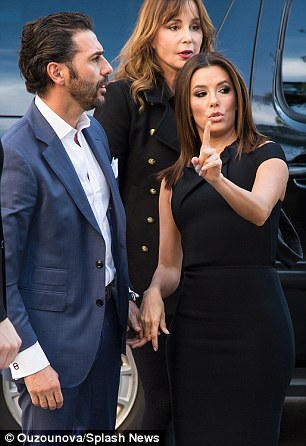 The right direction: While outside the venue, the Golden Globe nominee appeared to be explaining directions to her beau