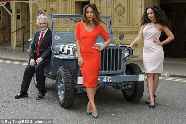 In good company: The pretty star was also joined by John Suchet andRebecca Ferguson