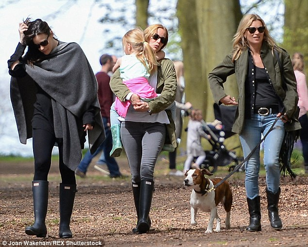 Day off: Baby Sailor did not appear to be pictured with Liv on the day, nor was her son Milo, from her marriage to Royston Langdon