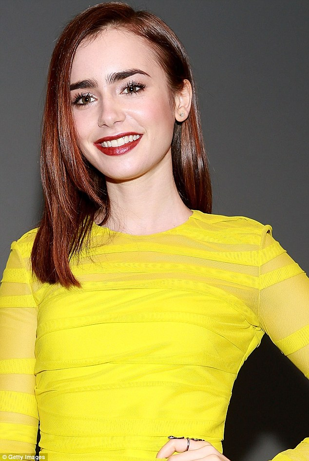 Actress Lily Collins is also a big advocate of bushy brows