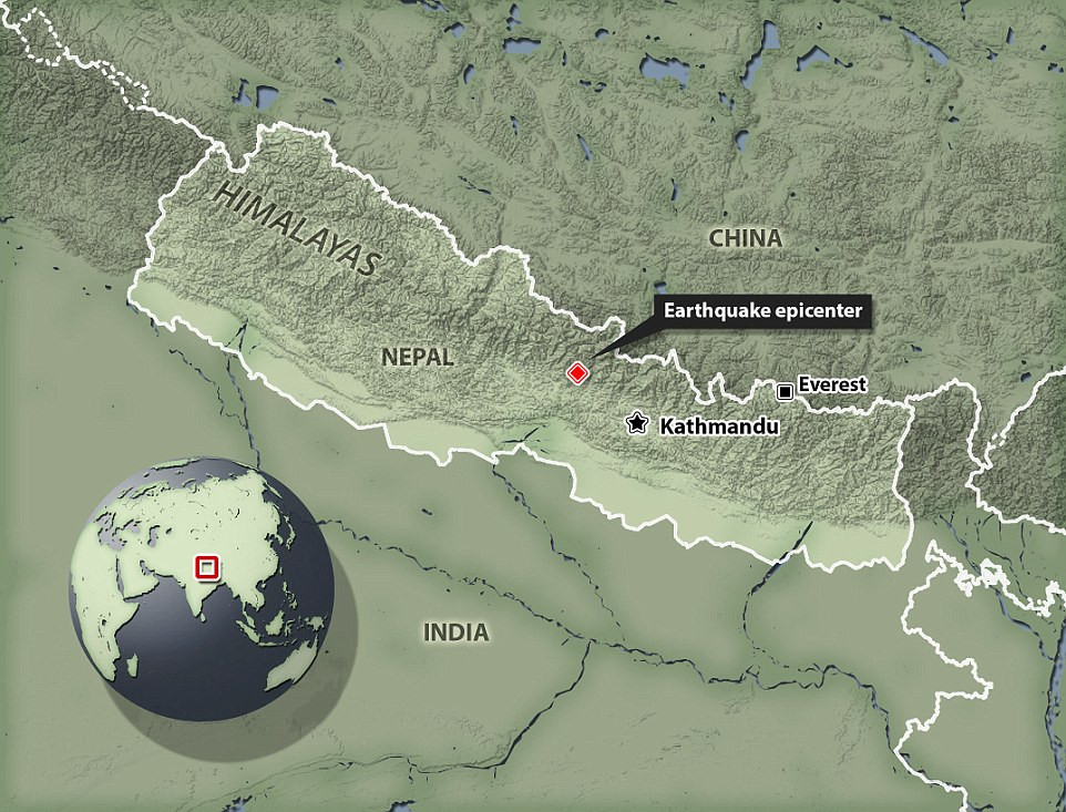 The United States Geological Survey said the quake struck 81 kilometres (50 miles) northwest of Kathmandu at 06.11 GMT, with walls crumbling and families racing outside of their homes