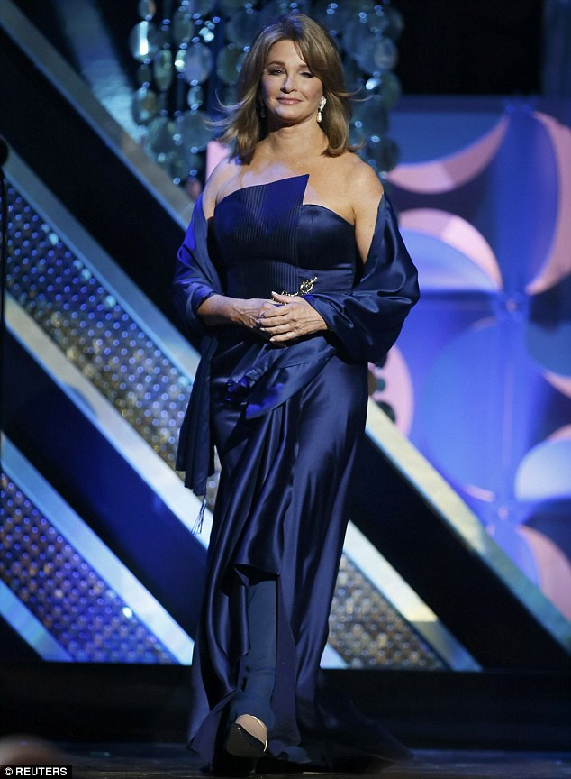 Soap veteran: Deidre Hall who has played Dr. Marlena Evans on Days Of Our Lives for 32 years stunned in a blue gown