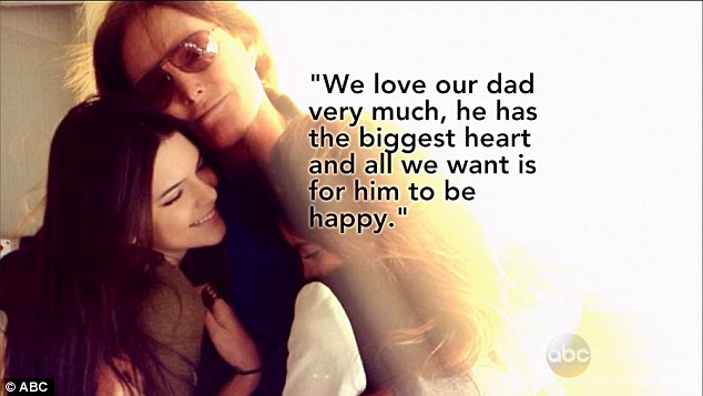 Close family: Kendall and 17-year-old little sister Kylie also released a statement which appeared on the 20/20 special