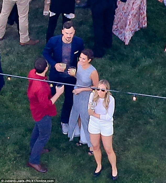 Top names: Lea Michele was part of the guestlist, along with her boyfriend Matthew Paetz
