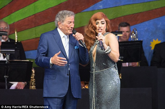 Teamwork: Lady Gaga and Tony Bennett are currently on their Cheek to Cheek Tour
