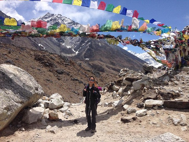Dr Girawong is from New Jersey and is shown at Mount Everest base camp, she was an experienced climber