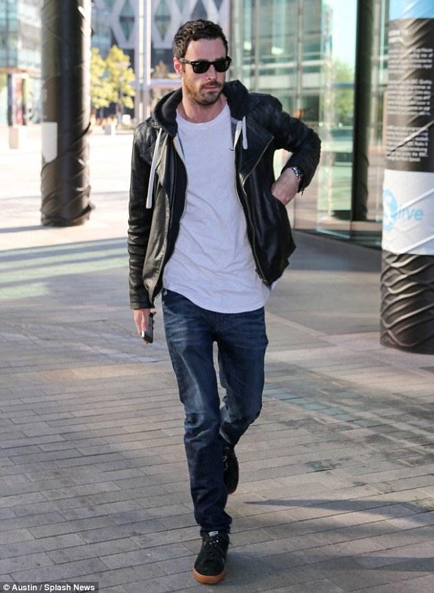Back to work:Sean Ward seen heading to Coronation Street studios on Monday