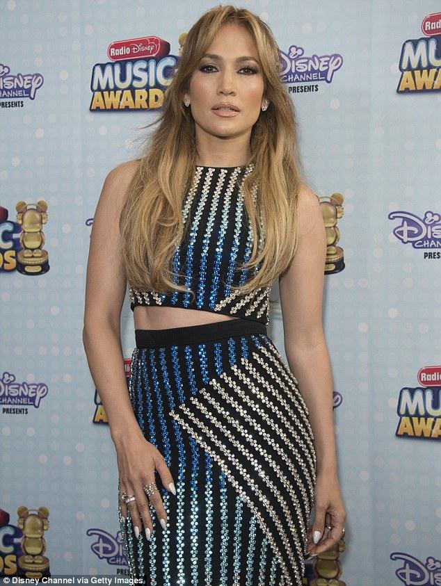 Major honour: Jennifer Lopez picked up the Hero Award at the ceremony