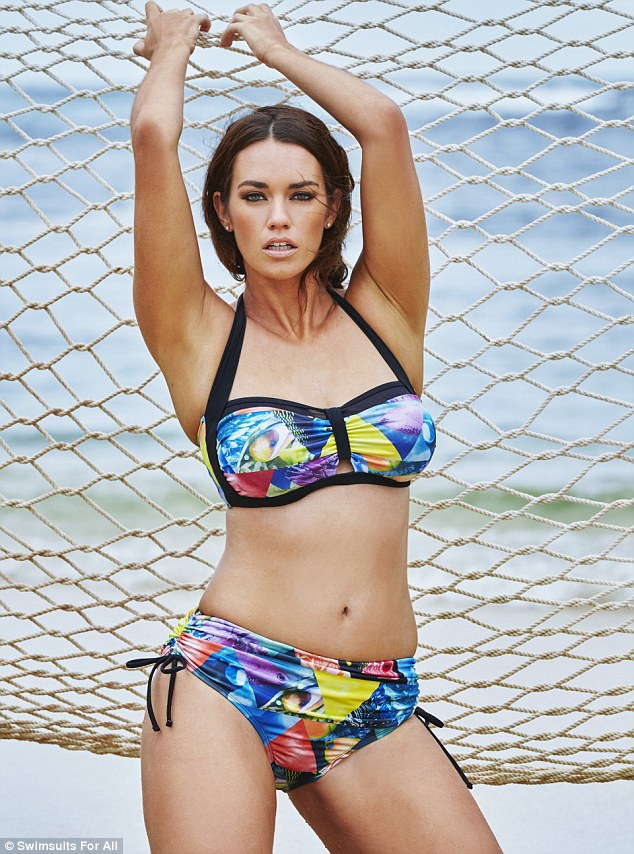 Curves to coral: Model and environmental scientist Laura Wells uses figure to flaunt ocean inspired swimwear