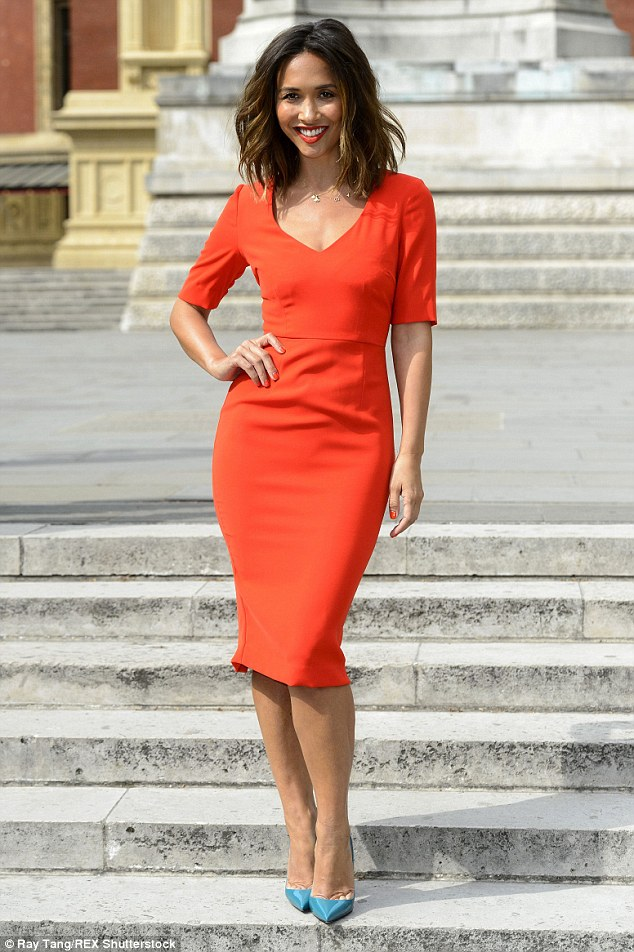 Stunning appearance: Myleene Klass recently headed to the grand Royal Albert Hall for a Classic FM photocall in London