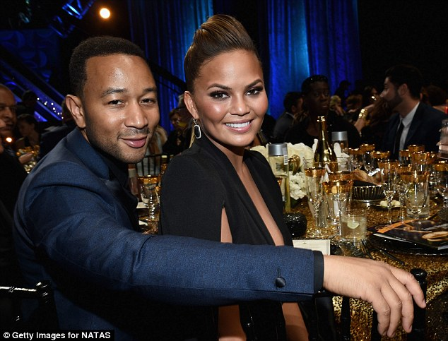 Cute couple: John Legend and Chrissy Teigen were among the celebrities in attendance