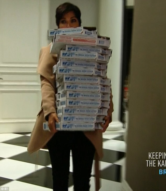 Special delivery: The reality star's paranoia began when several pizzas were delivered to her home