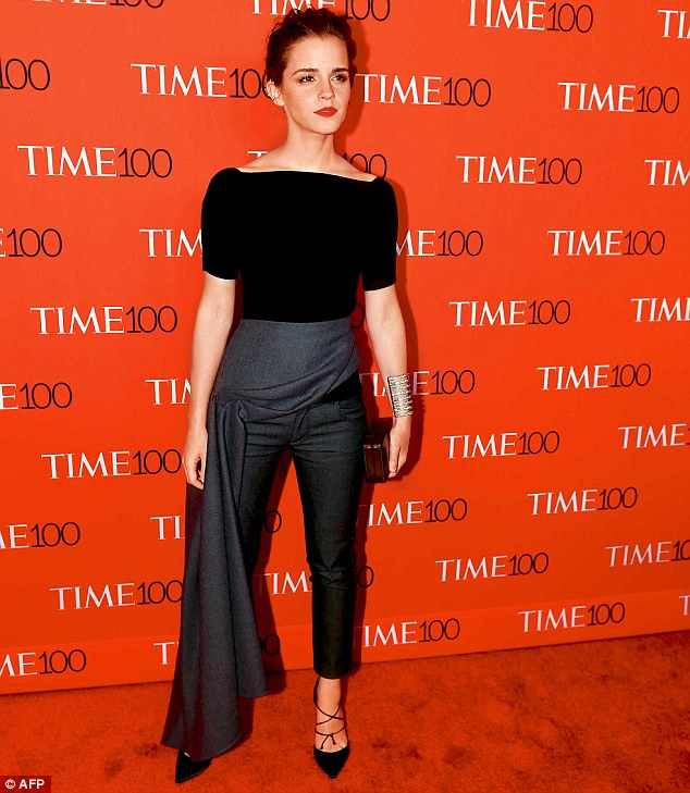 Skirt, trousers or both?The Time 100 Gala was held at Frederick P. Rose Hall in New York last week, where Emma toasted her success in a striking grey skirt and trouser combo