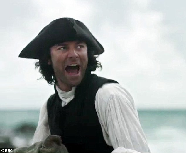 Raiders: Poldark took charge as he rounded up the cargo as another rival group of raiders arrived