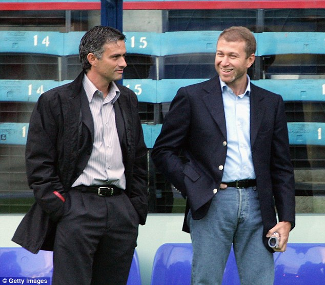 Roman Abramovich, the seventh wealthiest person in the UK according to the Rich List (right) speaks to Jose Mourinho, manager of Chelsea FC which he owns. Abramovich made his wealth through oil and industry